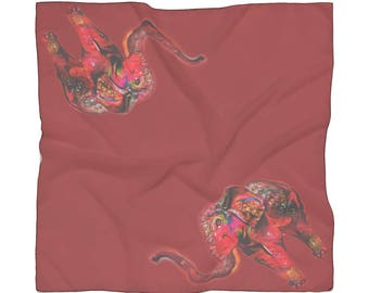 Red Candy Elephant Scarf