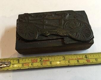 Vintage wood Printers Block