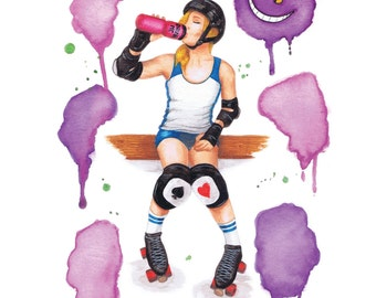 The Wonderful - poster A3 - Roller Derby
