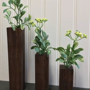 Farmhouse Single Flower Vase Set / Small Hanging Vases / Single Bud Vase /  Rustic Wood