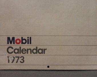 Please do not buy No longer available Mobil Oil Calendar 1973
