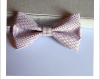 Bow tie Burgundy and gray stripe