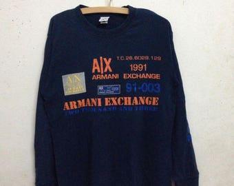 Vintage 90's Armani Exchange Shirts Long Sleeves Size M
