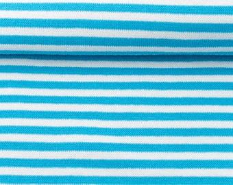 Cuffs - size 80cm - Aqua/white striped