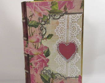 Garden Book Box with poem OOAK REDUCED