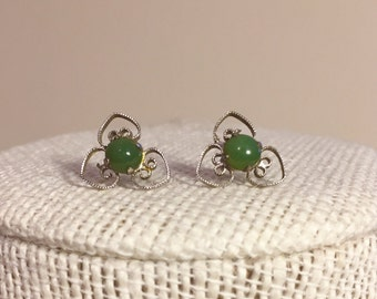 Sterling Silver and Jade earrings