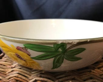Franciscan Yellow & Purple Poppy Round Bowl