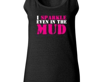 New Years Resolution Gift Mud Run Tank Top - Funny Running Tank - Half Marathon - 5k - Mud Run Tutu - Workout Tank - Group Running Tanks
