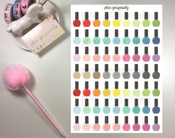 Nail Polish Stickers - Nail Appointment Stickers - PG018