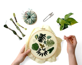 Out of Retirement! - January Philodendron Pattern Embroidery PDF by Sarah K. Benning - #SKBDIY Pattern Program PDF Download