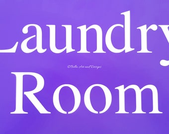 Laundry Room Stencil   *Free gift with every order*