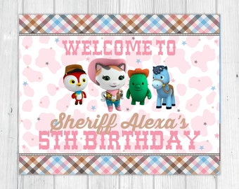 Sheriff Callie Party Sign