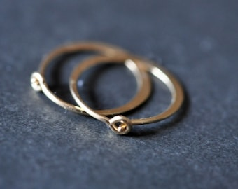ULTRA MINI 11mm 7/16 inch 14K gold filled hoop earrings -- just around the lobe.perfect for sensitive piercings and children