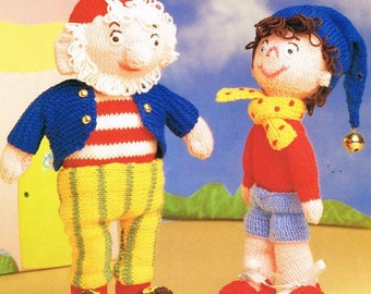 noddy and big ears toy dk knitting pattern 99p