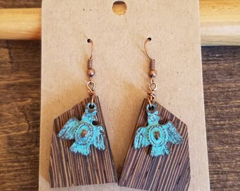 Eagle & Wood Earrings