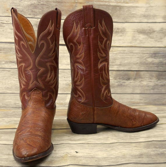 USA Nocona Extra EE Western Brown Wide Cowboy 9 Boots Country Size Leather Mens 8Uw87rnSqW