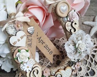 Ribbon Wedding Horseshoe | Horseshoe | Horseshoe Gift | Decorative Horseshoe | Lucky Horseshoe | Personalised Wedding Horseshoe