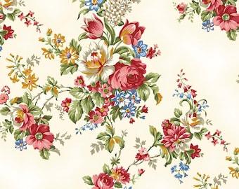 Juliette fabric, Penny Rose Studios, Main in Cream (C5670-CREAM) -- By the Yard