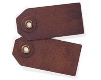 Mini Rusty Metal Tags - Package of 5