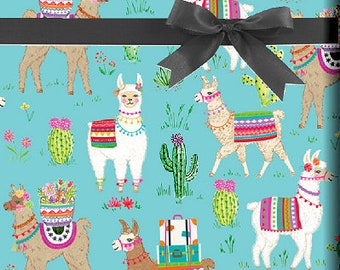 Dolly Llama Gift Wrap Wrapping Paper 15ft Roll