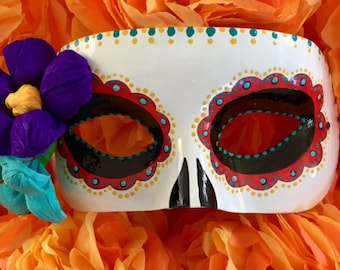 Sugar Skull - #8 (Red and Turquoise)