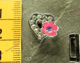 N2 pink busy heart pearl bracelet