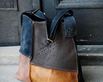 leather shoulder bag hobo bag LADYBUQ