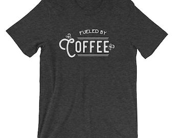 Fueled by coffee tee | Coffee tee | Coffee shirt | Coffee t-shirt | Fueled by coffee shirt | Fueled by coffee t-shirt | Comfy coffee shirt