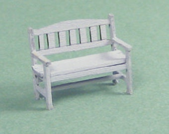 1:48 Dollhouse Miniature Park Bench Kit/ Quarter Inch Scale Bench Kit KBM Q216