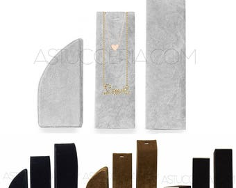 3 pieces-Earrings Pendants necklaces display Neck Bust jewelry holder-Dummy column to Showcase-velvet of various colors
