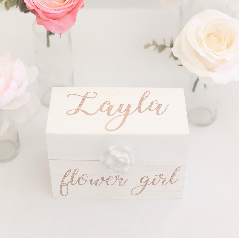 Flower Girl or Bridesmaid Gift Box Proposal Jewelry Wedding