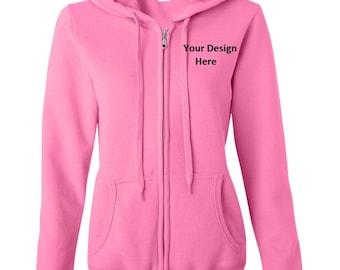 Ladies Custom Full-zip Hoodie--More Colors
