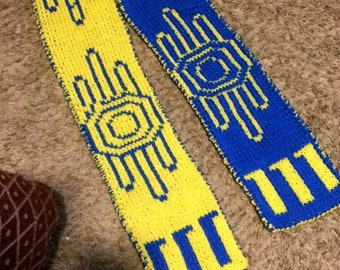 Double knit fallout scarf
