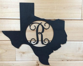 Texas Monogram, Wooden Texas Cut Out, State Monogram, Wooden Letter in State Cut Out,Wooden Monogram,Wooden Initial,Wall Decor, Wall Hanging