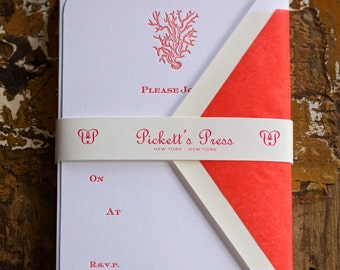 Coral Fill in Invitation