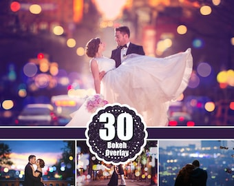 30 City Bokeh Light Overlays, Digital Backdrop, Holiday Party Wedding Lights, Overlays Photoshop, Digital Background Backdrop Texture jpg