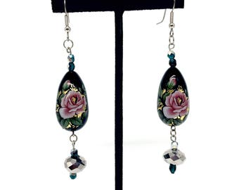 Vintage Inspired Floral Earrings