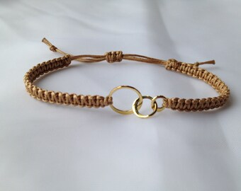 Bronze 3 Link Macramé Bracelet