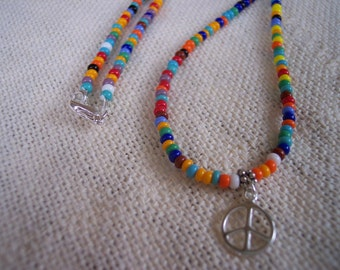 Colorful Seed Bead Necklace