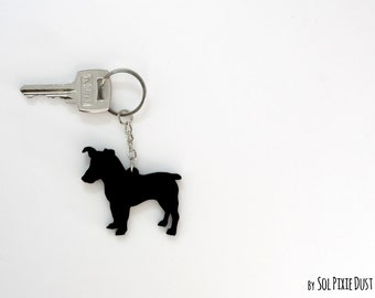 Parson Russell Terrier Keychain Silhouette