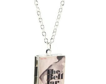 The Bell Jar Book Locket Necklace