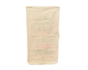 "Vintage Cotton Seed Bag, Quaker Red Clover Field Seeds, Philadelphia Seed Co., Seed Sack, Farm & Farmhouse Style, 28"" x 15 1/2"", S3"
