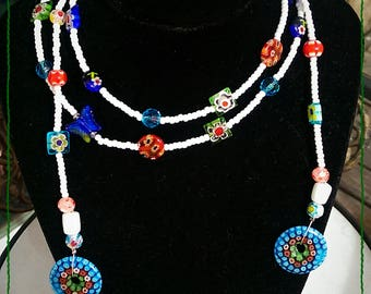 Mosaic look scarf/necklace