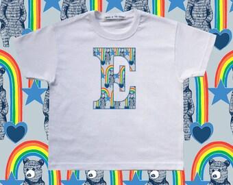 KIDS INITIAL T-SHIRT - Blue
