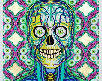 Kal-Eye-De-Skull Icon Series with 24 CT Gold Leaf Unframed