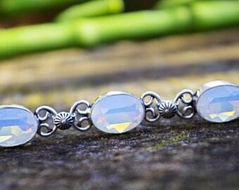 Opalite bracelet, 925 Silver opaline