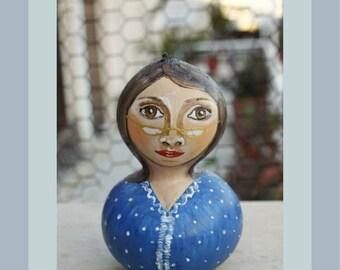 Pumpkins, Hand Painted Pumpkin, Pumpkin Art, Home Decoration, Pumpkin Decor, Handmade Object, Greek Art, Woman Portrait