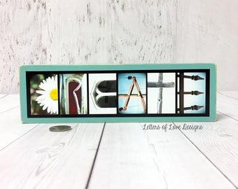 Create Sign, Crafter Art Print, Crafter Gift for Crafters, Artist Gift, Art Teacher Gift Craft Room Decor Sign Wall Art Turquoise White Sign