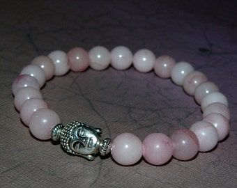 Buddha Rose Quartz Gemstone Bracelet