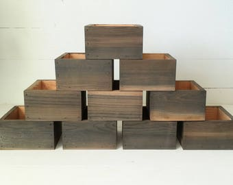 10X Wood Planter Boxes Wedding Centerpiece | Cedar Flower Box Set | Wedding Table Decor | Rustic Wedding Decor | Rustic Wedding Centerpieces